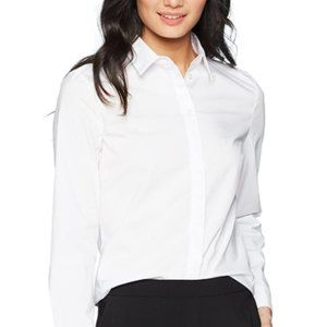 Women's simple button down collar